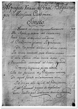 belgrano soneto soneto