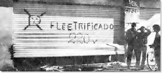 saqueos Rosario, electrificado (La Capital) blog La Terminal, C Scabuzzo