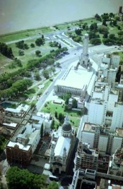 Monumento a la Bandera, vista aerea 1998