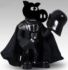 Star Wars versión gripe porcina. De: http://migallinero.blogspot.com/2009_04_01_archive.html