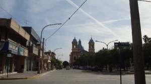 """Supuesto """"chemtrails"""" en Villa del Rosario, Córdoba, a mediados de junio."""