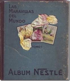 Album Nestlé y flores marchitas