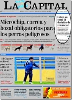 diario LA CAPITAL 19 de agosto 2009