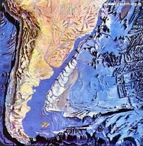 relieve argentina y el mar
