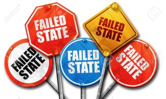 failed state, 3D rendering, rough street sign collection